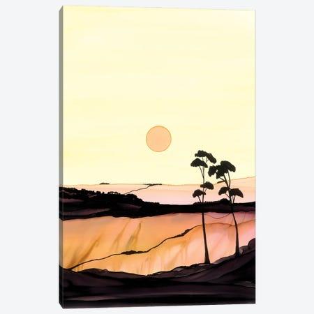 Yellow Sunset Canvas Print #JMW68} by Jan Matthews Canvas Wall Art