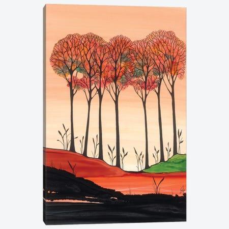 Orange Sunset Canvas Print #JMW71} by Jan Matthews Art Print