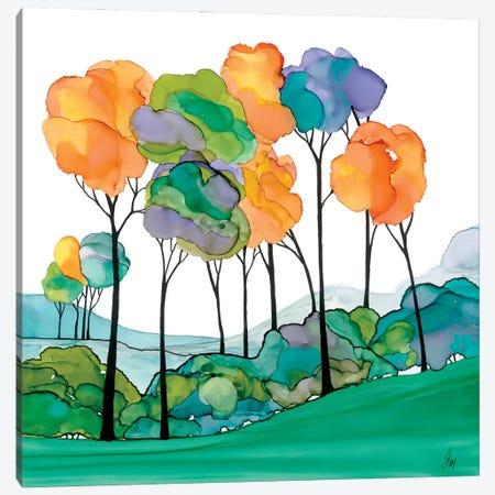 Over The Hedgerows Canvas Print #JMW72} by Jan Matthews Canvas Art Print