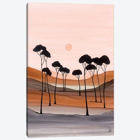 Overlooking The Tarn Canvas Print #JMW74} by Jan Matthews Canvas Artwork