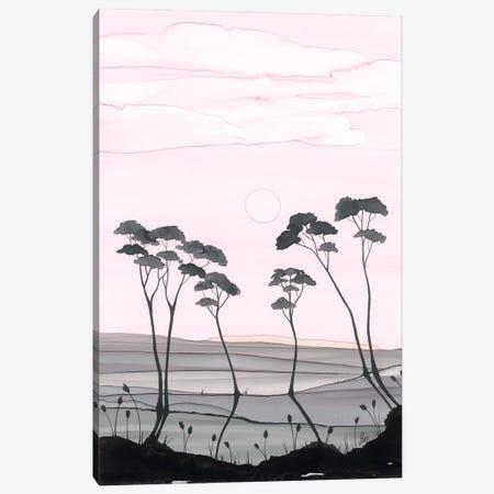 Pinks And Greys Canvas Print #JMW77} by Jan Matthews Canvas Wall Art