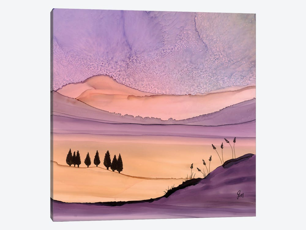 Purple Hues by Jan Matthews 1-piece Canvas Art Print