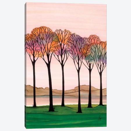 Rainbow Trees Canvas Print #JMW79} by Jan Matthews Canvas Art Print
