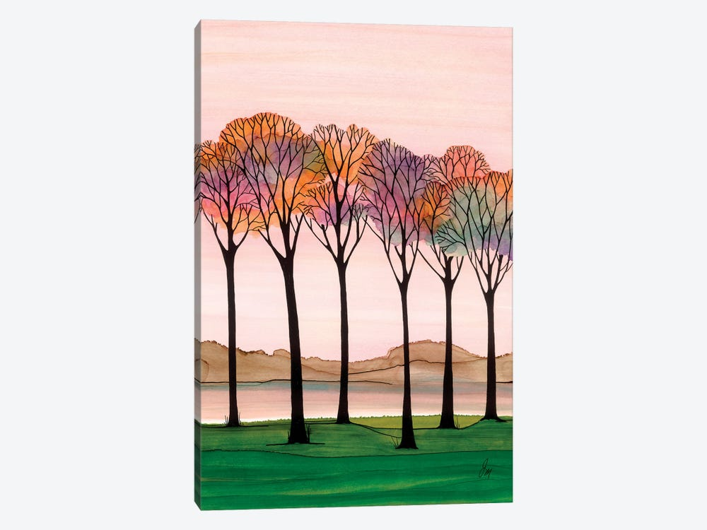 Rainbow Trees by Jan Matthews 1-piece Canvas Art