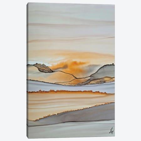 Sunset Orange Canvas Print #JMW83} by Jan Matthews Canvas Wall Art