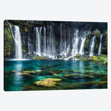Shiraito Falls Canvas Print #JNB100} by Jan Becke Canvas Artwork