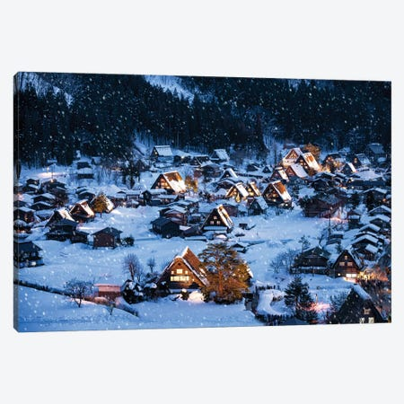 Shirakawago In Winter Canvas Print #JNB101} by Jan Becke Canvas Artwork