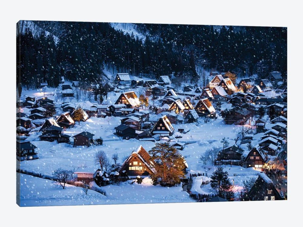Shirakawago In Winter by Jan Becke 1-piece Canvas Print