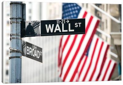 Wall Street, Lower Manhattan, New York City, Usa Canvas Art Print