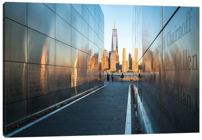 Empty Sky Memorial At Liberty State Park With View Of The One World Trade Center Canvas Art Print