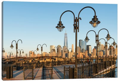 Lower Manhattan Skyline With One World Trade Center Seen From Liberty State Park, New Jersey Canvas Art Print
