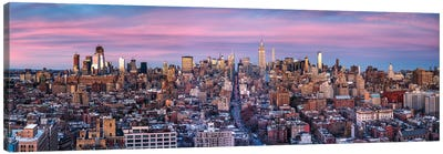 Panoramic View Of Manhattan, New York City, Usa Canvas Art Print