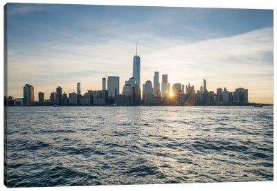 Lower Manhattan Skyline At Sunrise, New York City Canvas Art Print