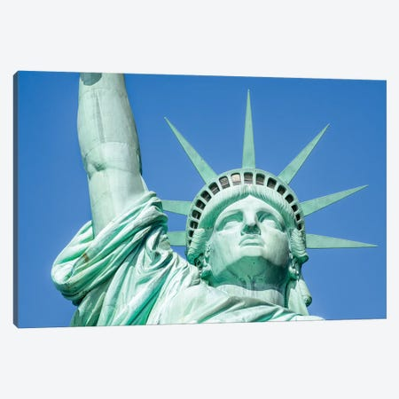 Statue Of Liberty Canvas Print #JNB105} by Jan Becke Art Print