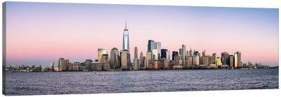 New York City Skyline Panorama With One World Trade Center Canvas Art Print