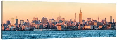 New York City Skyline Panorama With Empire State Building Canvas Art Print