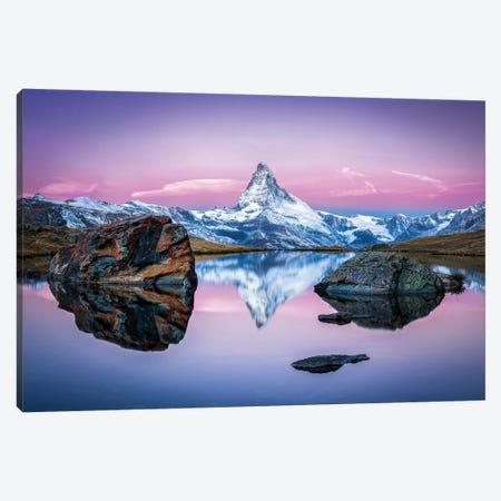 Stellisee And Matterhorn In Winter Canvas Print #JNB106} by Jan Becke Art Print