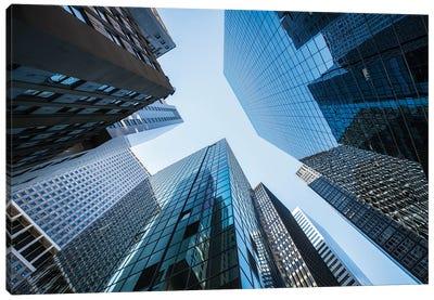 Modern Office Buildings Near Wall Street, New York City Canvas Art Print