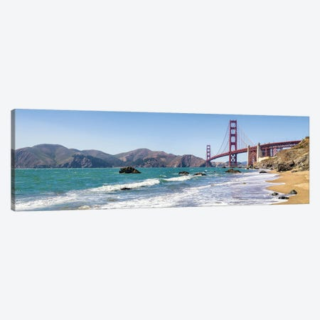 Golden Gate Bridge Seen From Marshall Beach, San Francisco, California, Usa Canvas Print #JNB1081} by Jan Becke Canvas Artwork