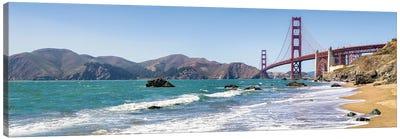 Golden Gate Bridge Seen From Marshall Beach, San Francisco, California, Usa Canvas Art Print