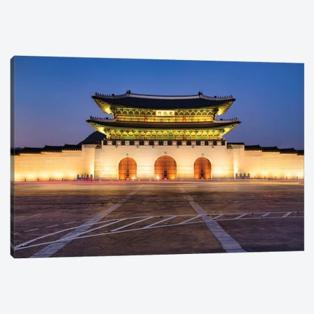 Gyeongbokgung Palace At Night, Seoul, South Korea Canvas Print #JNB1087} by Jan Becke Canvas Art Print