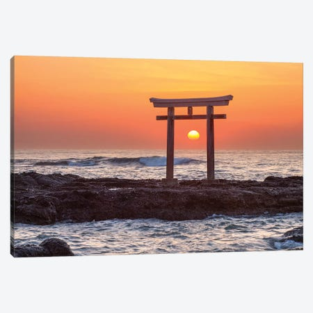 Sunrise At The Isosaki Shrine Canvas Print #JNB109} by Jan Becke Canvas Artwork