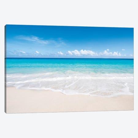Beautiful Beach On Bora Bora Canvas Print #JNB10} by Jan Becke Canvas Wall Art