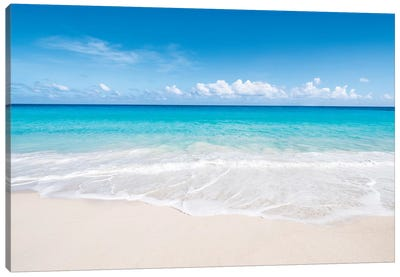 Beautiful Beach On Bora Bora Canvas Art Print