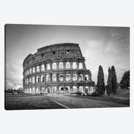 Colosseum In Rome In Black And White Canvas Print #JNB1107} by Jan Becke Canvas Art
