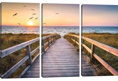 Sunset At The Dune Beach Canvas Art Print