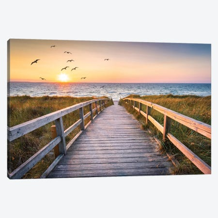 Sunset At The Dune Beach Canvas Print #JNB110} by Jan Becke Art Print