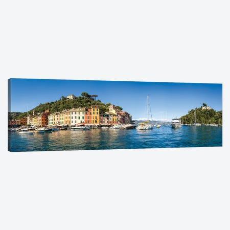 Panoramic View Of Portofino, Liguria, Italy Canvas Print #JNB1111} by Jan Becke Canvas Artwork