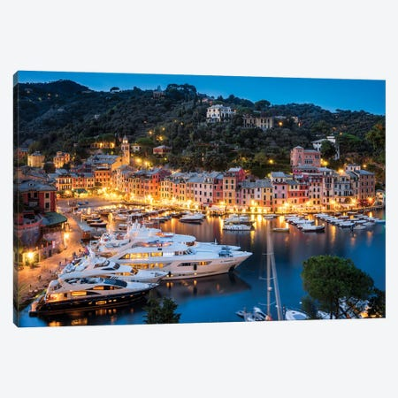 Portofino At Night, Liguria, Italy Canvas Print #JNB1112} by Jan Becke Canvas Wall Art