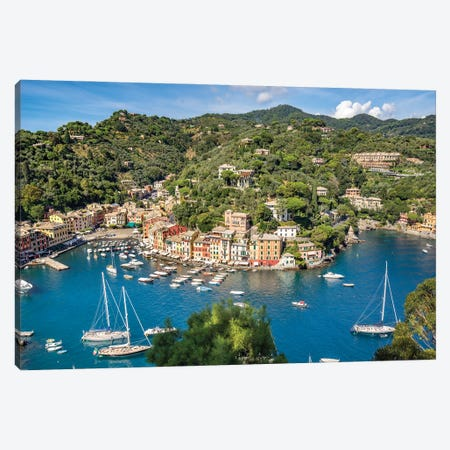 Town Of Portofino, Liguria, Italy Canvas Print #JNB1114} by Jan Becke Canvas Art Print