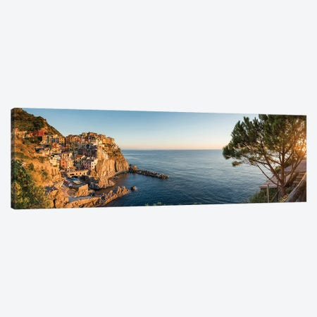 Panoramic View Of Manarola, Cinque Terre Coast, Italy Canvas Print #JNB1117} by Jan Becke Art Print