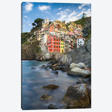 Town Of Riomaggiore, Cinque Terre, Italy Canvas Print #JNB1118} by Jan Becke Canvas Art
