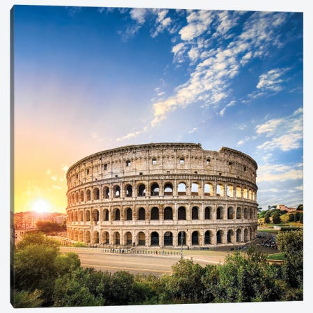 Colosseum In Rome At Sunrise Canvas Print #JNB1123} by Jan Becke Art Print