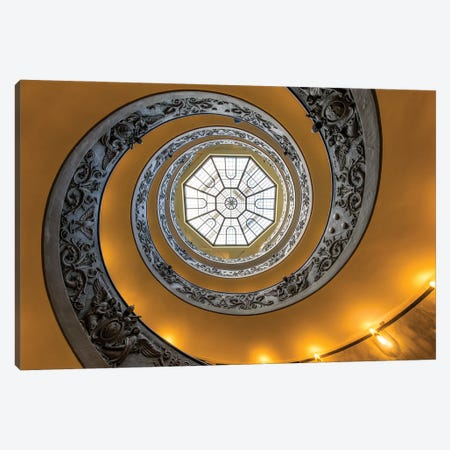 Bramante Spiral Staircase At The Vatican Museum In Rome, Italy Canvas Print #JNB1124} by Jan Becke Canvas Art
