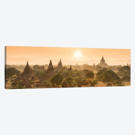Sunset Over The Ancient Temples In Bagan, Myanmar Canvas Print #JNB1136} by Jan Becke Canvas Art Print