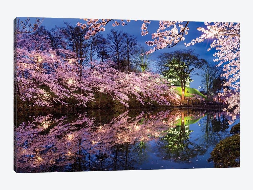 Takada Castle In Spring by Jan Becke 1-piece Canvas Wall Art