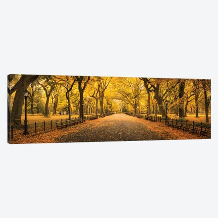 The Mall In Central Park 3-Piece Canvas #JNB114} by Jan Becke Canvas Artwork