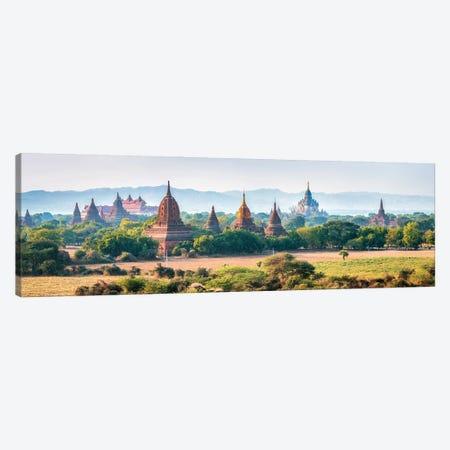 Panoramic View Of Temples In Old Bagan, Myanmar Canvas Print #JNB1156} by Jan Becke Art Print