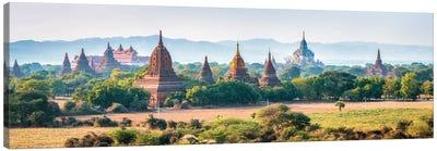 Panoramic View Of Temples In Old Bagan, Myanmar Canvas Art Print