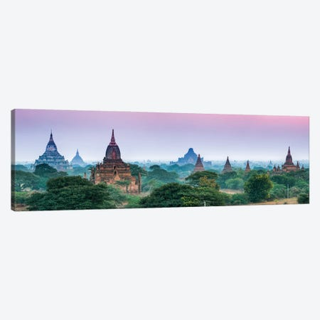 Panoramic View Of Ancient Temples In Old Bagan, Myanmar Canvas Print #JNB1158} by Jan Becke Canvas Artwork