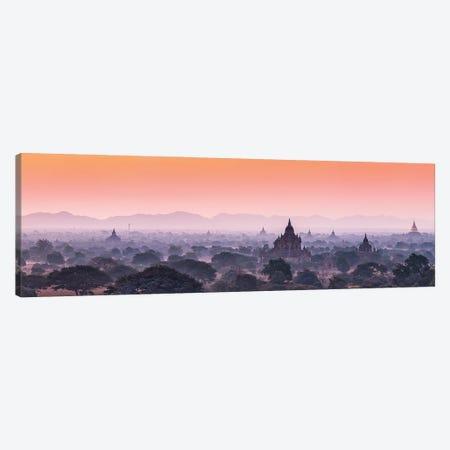 Ancient Temples At Dawn, Old Bagan, Myanmar Canvas Print #JNB1164} by Jan Becke Canvas Wall Art