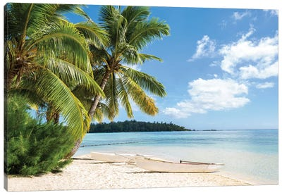 Tropical Beach Canvas Art Print