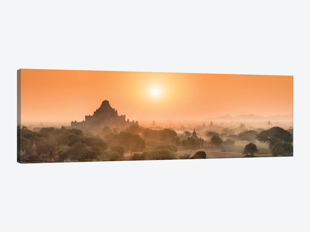 Dhammayangyi Temple At Sunrise, Bagan, Myanmar by Jan Becke 1-piece Canvas Art Print