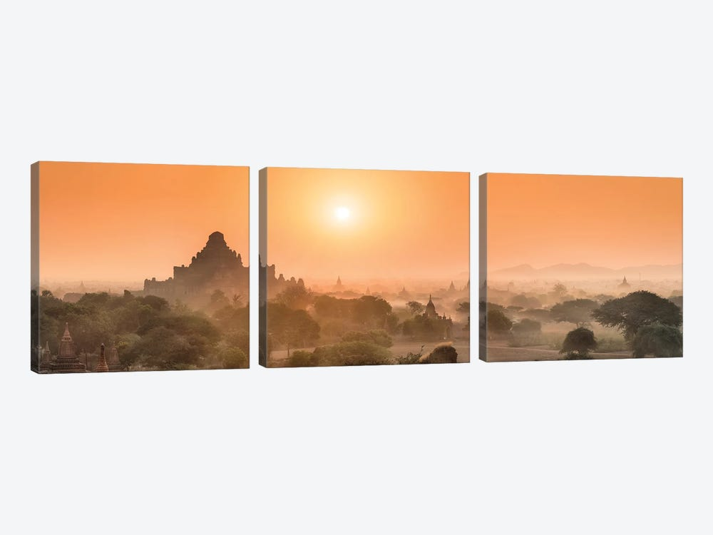 Dhammayangyi Temple At Sunrise, Bagan, Myanmar 3-piece Art Print