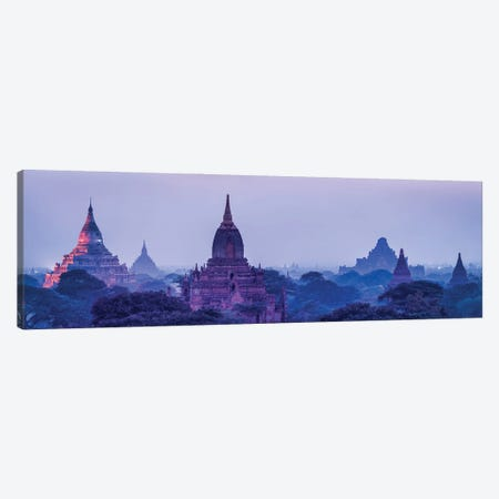 Ancient Temples At Dusk, Old Bagan, Myanmar Canvas Print #JNB1179} by Jan Becke Canvas Art