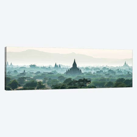 Early Morning Fog Over The Temples In Bagan, Myanmar Canvas Print #JNB1181} by Jan Becke Canvas Art Print